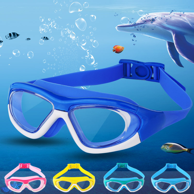 New Style CHILDREN'S Swimming Goggles Eye Protection Waterproof Men And Women Child Goggles Plain Glass Large Frame Swimming Gog