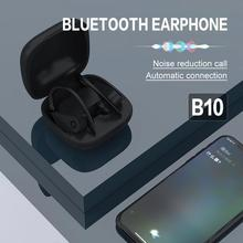 Sports Bluetooth 5.0 Earphone For Powerbeats Pro Bs10 Intelligent Noise Reduction Memory Waterproof Music Headset PTCS