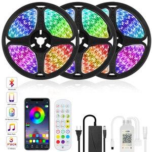 Goodland RGB LED Strip Light 12V Ribbon LED Lights Strip RGB Tape 5050 2835 Flexible Diode Tape for Room TV Backlight Bluetooth