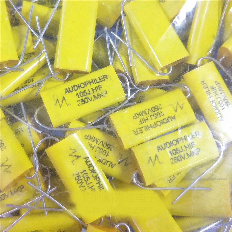 Genuine Axial Electrodeless Capacitor 1UF1.5 / 2.2 / 3.3 / 4.7 / 6.8 / 10/15/20 / 22UF250V 10PCS -1lot