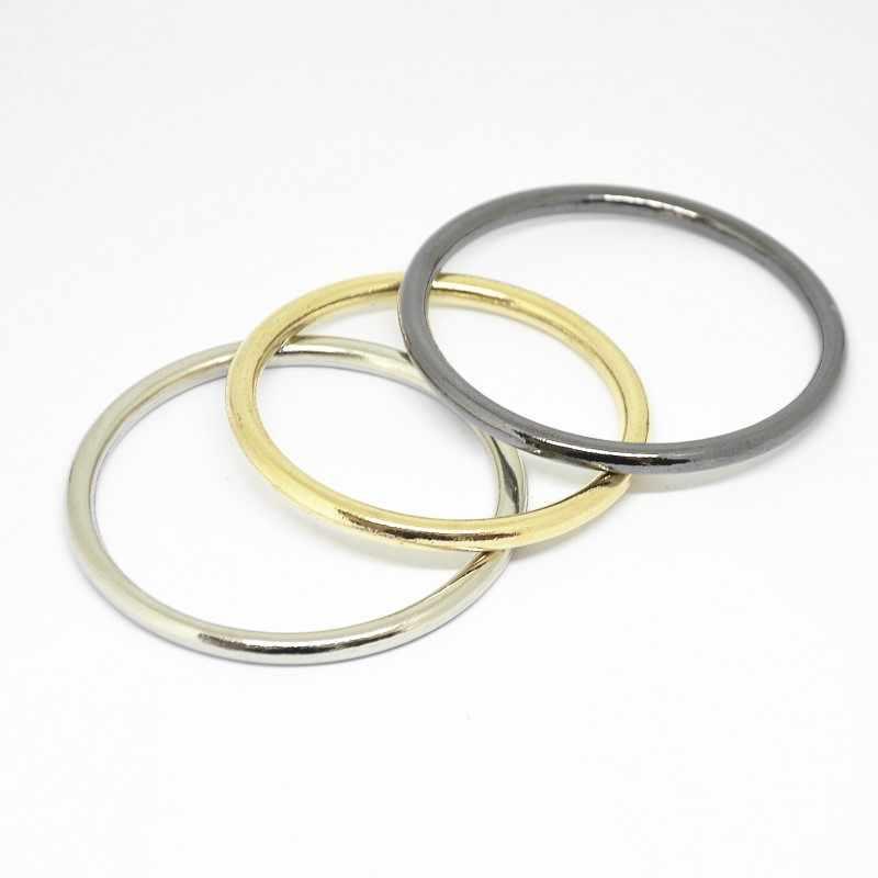 Hebillas de metal cuadrado de oro de 6 × Plana Anillos Decorativo Accesorio de la ropa bolsas Craft