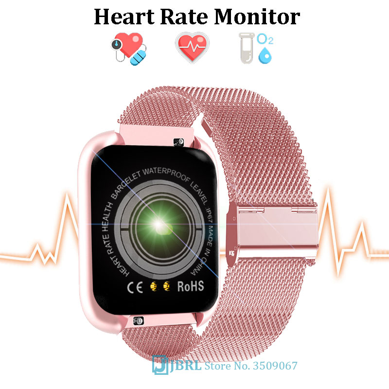 Hot DealsSmart-Watch Stainless-Steel Android Ios Sport Electronics Fashion Women Square for Hours