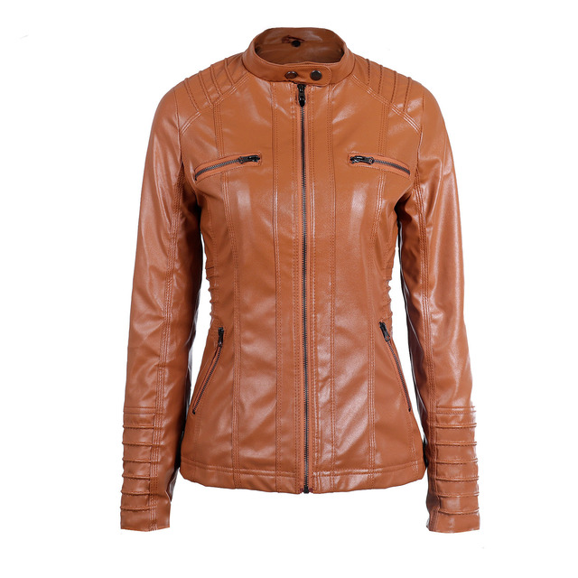 Женская куртка с капюшоном модного покроя куртка из эко кожи 3