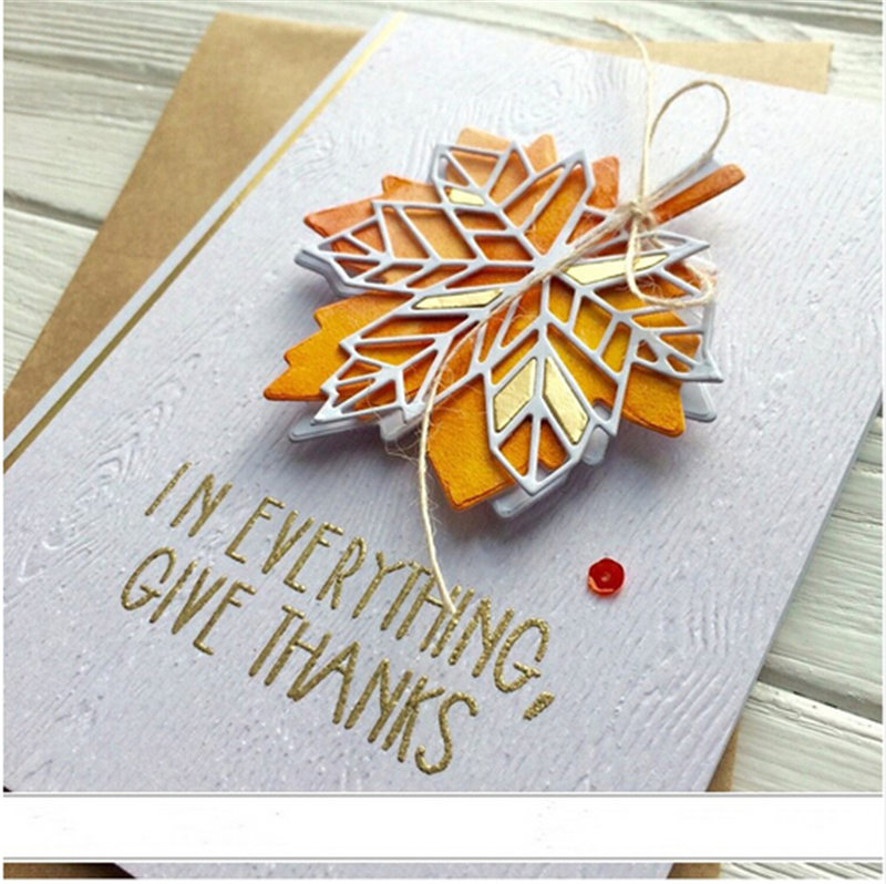 Home Gift Decore Maple Leaf Cover Panel Metal Die Cuts Metal Cutting Dies For DIY Scrapbooking Photo Album Embossing Cards Craft|Cutting Dies|   - AliExpress