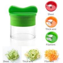 Vegetable Fruit Spiral Slicer Cutter Vegetable Spiralizer Grater Carrot Cucumber Courgette Zucchini Spaghetti Maker 3Blades/Set