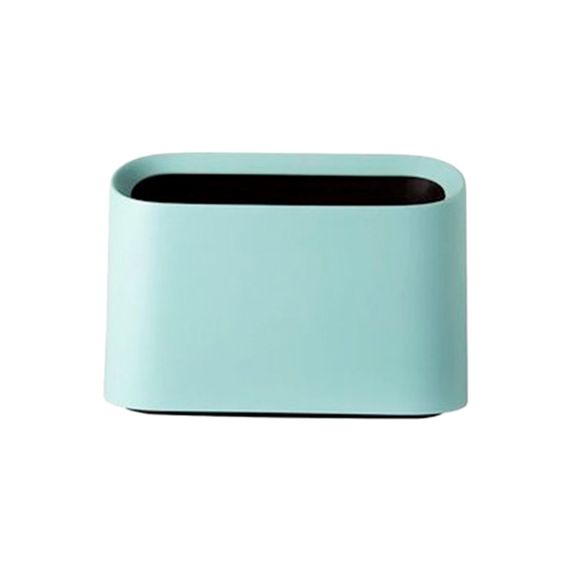 Botique Nordic Style Desktop Trash Can Modern Oval Shatter Resistant Plastic Small Trash Can Wastebasket Desktop Trash Can Mini|Waste Bins| |  - title=