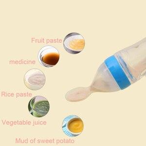 Image 2 - Bebek kaşık şişe besleyici damlalıklı silikon kaşık besleme ilaç çocuklar yürümeye başlayan çatal kaplar çocuk aksesuarları yenidoğan