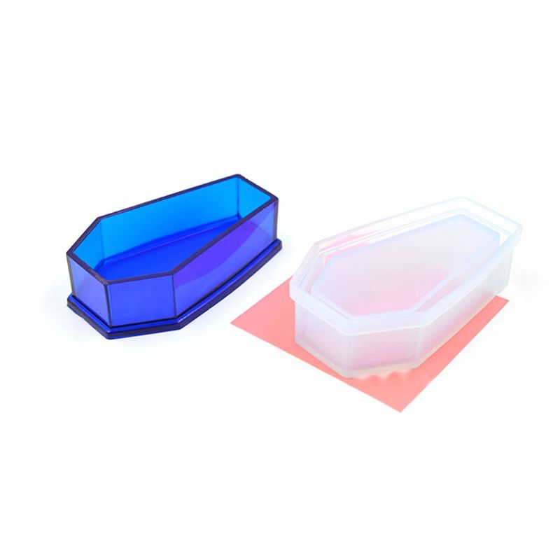 Resin Casting Storage Box Mould Silicone Coffin Box Mold Halloween Jewelry Tools N58F