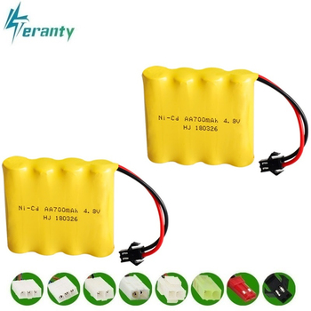 4.8v Rechargeable Battery For Rc toys Cars Tanks Robots Gun 700mah Ni-cd Battery AA 4.8v 700mah Batteries Pack For Rc Boat 20PCS