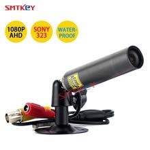 Smtkey câmera ahd mini de vigilância, câmera de segurança 1080p sony 323 sensor ahd, à prova d água, pequena, preta, metal