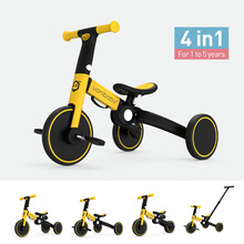 uonibaby 4 into 1 Baby Balance Bike  Kids Stroller Trolley Pedal Tricycle Two Wheel Children Bicycle
