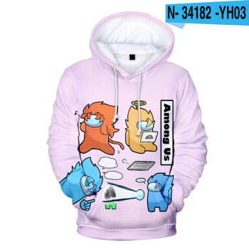 New Autumn Winter Tops Funny Print Among Us Hoodie Cartoon 3D Printed Pullover Sweatshirt Adult Harajuku Anime Pullover 18