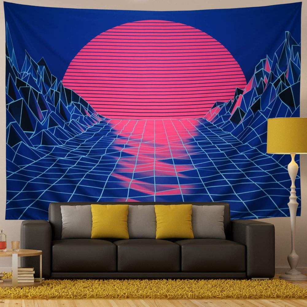 Vaskey Tapestry Wall Hanging Sunset Mountain Wall Hanging Wall Art Nature Home Decorations for Living Room Bedroom Bedroom Decor
