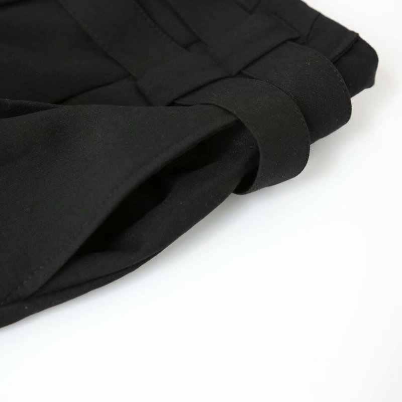 Woah QJ60-8157 moda europea y americana pantalones de doble cinturón