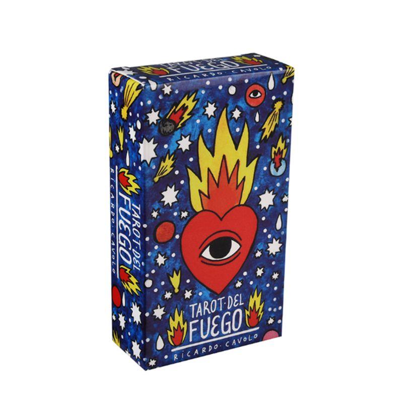 78pcs Tarots Del Fuego Cards gioco da tavolo spagnolo teddy Deck guida elettronica libro famiglia Tarots carte da gioco