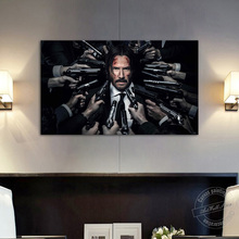 John Wick Chapter 2 Movie Poster Gun To Head Wall Picture for Living Room Decor Canvas Art Wall Hanging Painting Birthday Gift wall art canvas print back to the future 1 2 3 hot movie poster for living room decor bar decoration