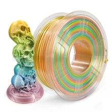 Silk PLA Filament 1kg Colorful Rainbow Silk Texture 1.75mm Tolerance +/-0.02mm 100% No Bubble FDM 3D Printer Printing Material