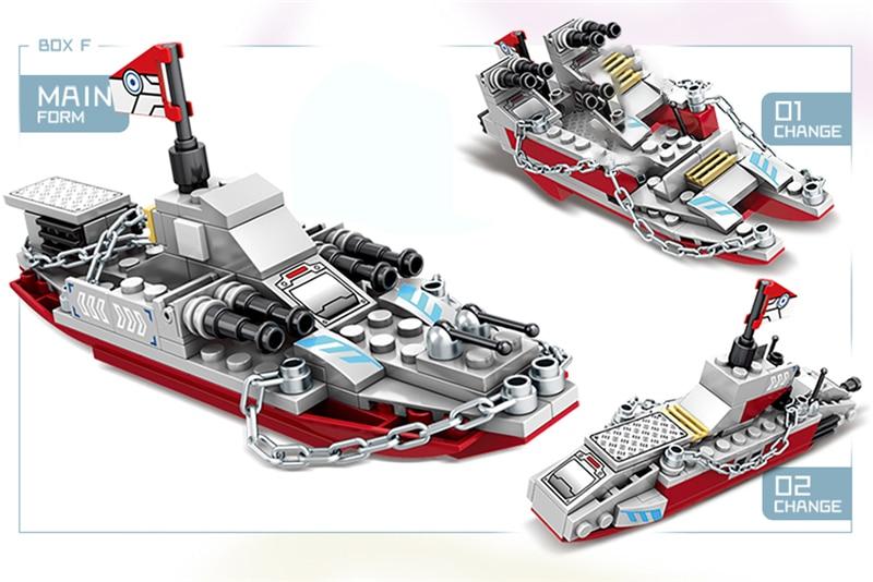 1000+ PCS Military Warship Navy Aircraft Army Figures Building Blocks LegoINGlys Army Warship Construction Bricks Children Toys (13)