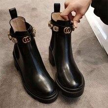 Mpd novo de fundo grosso muffin estiramento pano strass sapatos chelsea botas curtas tornozelo plana bota inferior grossa zapatos de mujer