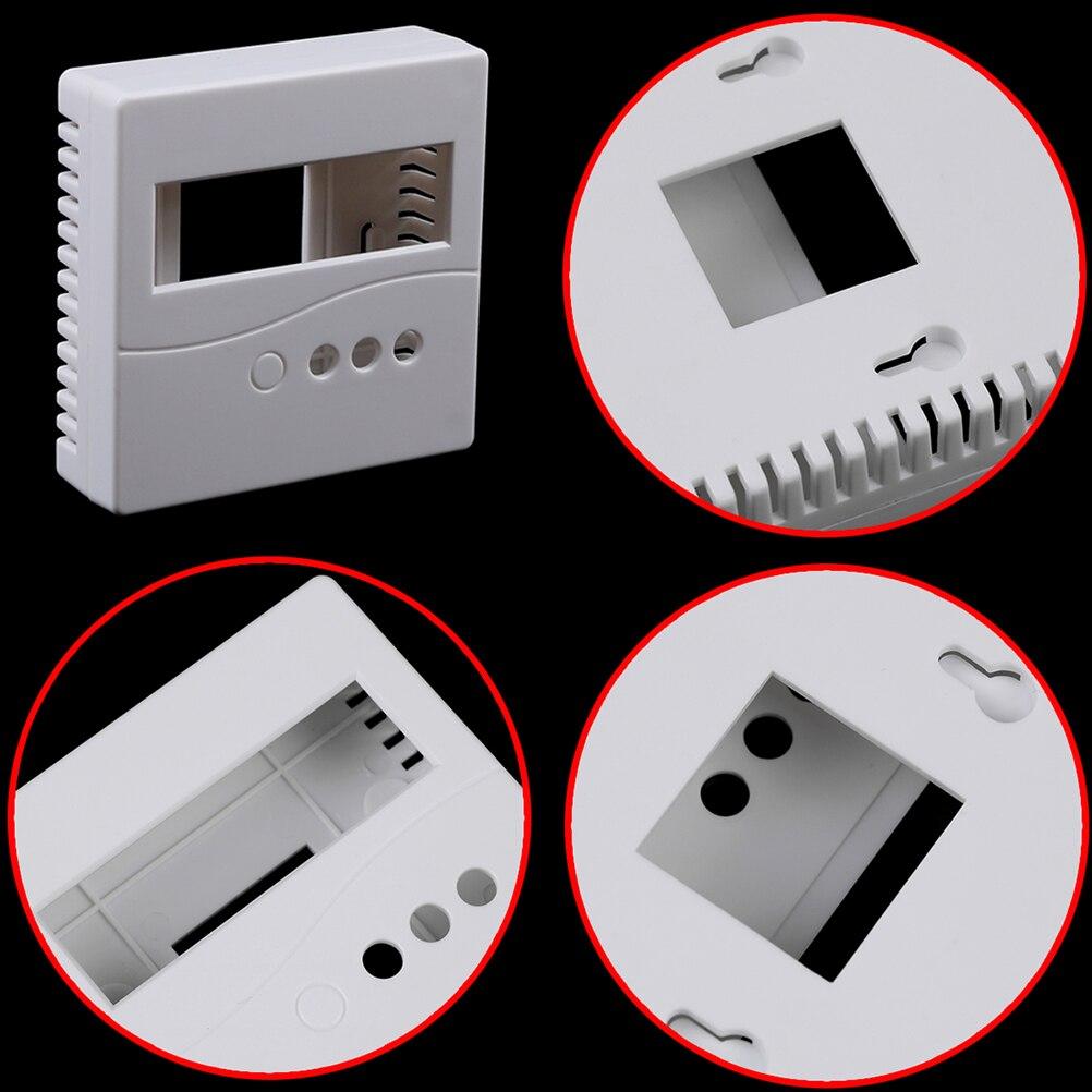 Новый 1 шт. для DIY LCD1602 метр тестер с кнопкой 86 пластиковый проекционный бокс корпус белый 8,6x8,6x2,6 см чехол
