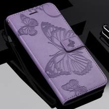 3D mariposa caso de teléfono para Samsung Galaxy J2 J4 Core j8 j6 Plus 2018 j3 j5 j7 2017 de 2016 a 2015 característica de la cartera Prime Coque P06F
