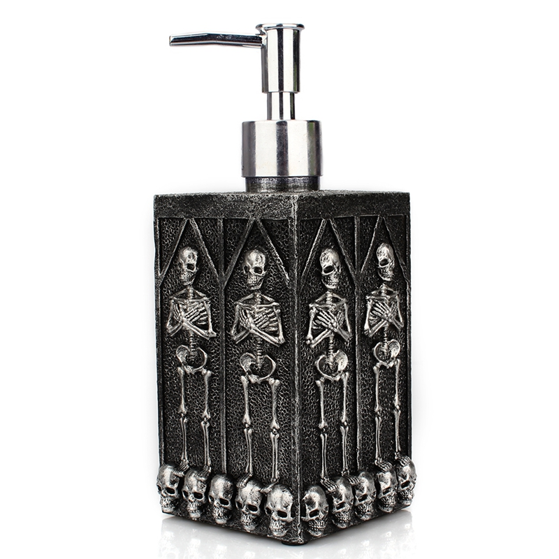 Skull Soap Dispensers Bottle Shower Gel Dispenser Bottle Liquid Soap Dispenser Pump Refillable Lotion Storage Bottles