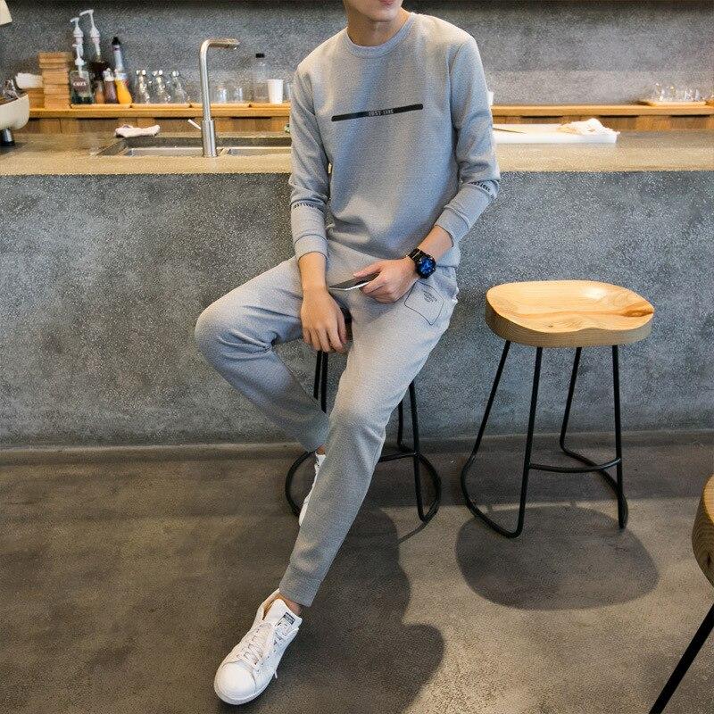 2019 Autumn Men'S Wear Sports Leisure Suit MEN'S Sportswear Long-sleeved Sweater Casual Fashion Clothes Fashion