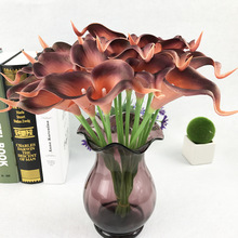1pcs Calla lily artificial flower Artificial Wedding birthday party banquet Home decoration mini Photography props
