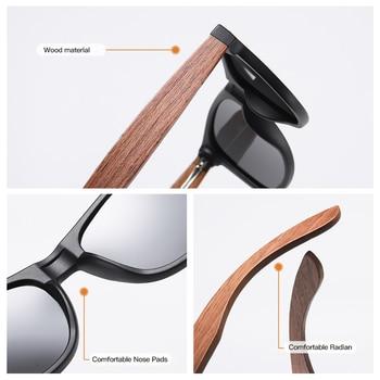GM Environment-Friendly Retro Black Walnut Wood UV400 Polarized Bamboo Sunglasses Men's Fashion Trendy Anti Blue Lens S7061h 6