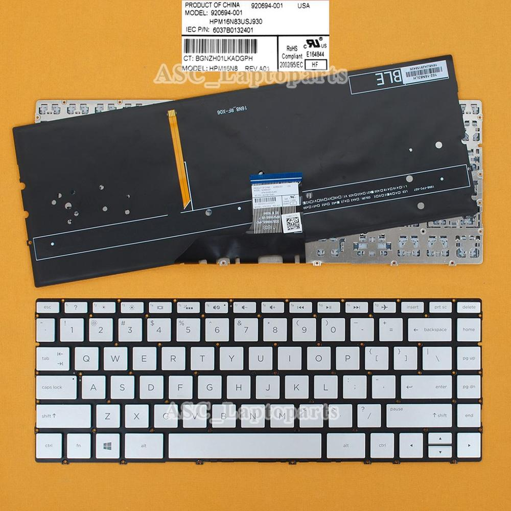 New Us English Qwerty Keyboard For Hp Envy 13 Ad070tu 13 Ad079tu 13 Ad083tu 13 Ad050tu 13 Ad050tx 13 Ad060tu 13 Ad060tx Backlit Replacement Keyboards Computer Office Aliexpress