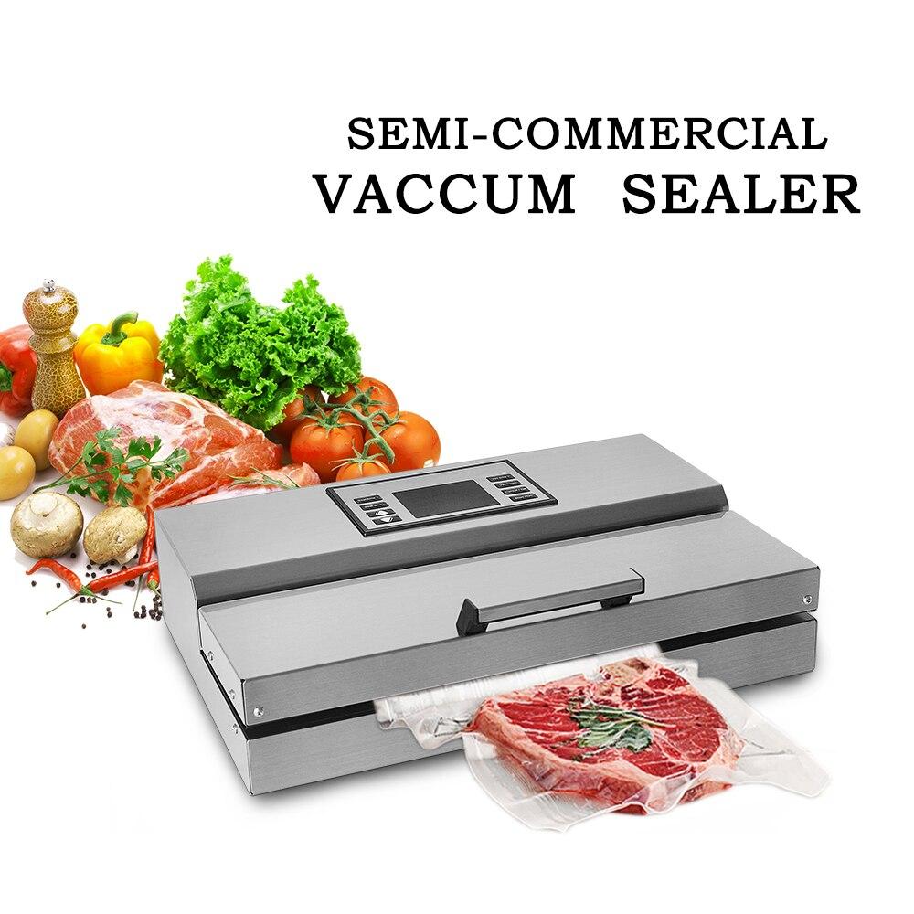 Купить с кэшбэком ITOP Food Vacuum Sealer 220V Household Commercial Food Machine Packaging Machine Film Sealer Vacuum Packer Stainless Steel Body