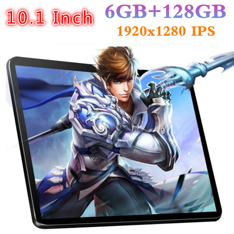 YAHU 10.1 Inch Tablet PC Octa Core 6GB RAM 128GB ROM IPS 1920*1280 Dual Cameras 5.0 MP 10.1 Android 8.0 Tablets Phone IPS