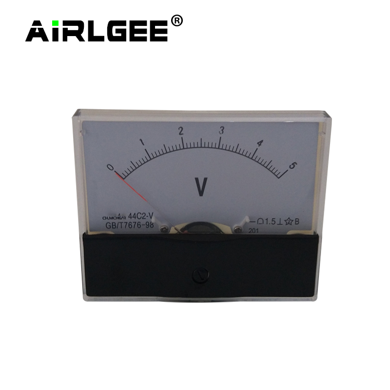 44C2 DC1V 3V 5V 10V 15V 20V 30V 50V 75V 100V Measuring Range 1.5 Class accuracy Measurement Tool Analog Gauge Panel Voltmeter analog panel voltmeter voltmeter dc panel voltmeter - title=