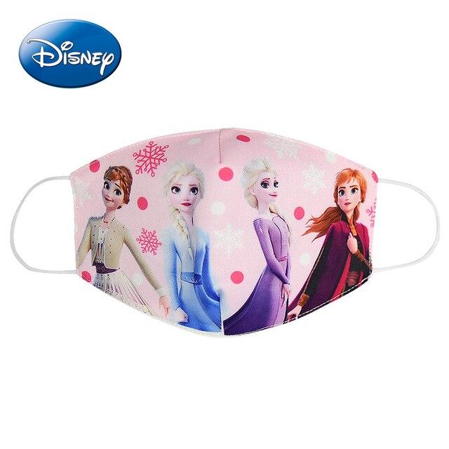 Frozen Elsa Kids Mask Cotton Daily Protection Pm2.5 Anti-haze Dust-proof Washable Cartoon Boys Girls Disney Children Masks 2