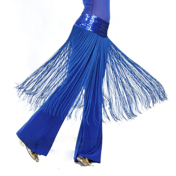 Fashion Vestidos Brilliant Belly Latin Dance Fringe Tassel Hip Scarf Belt Hip Skirt Stage & Dance Wear!