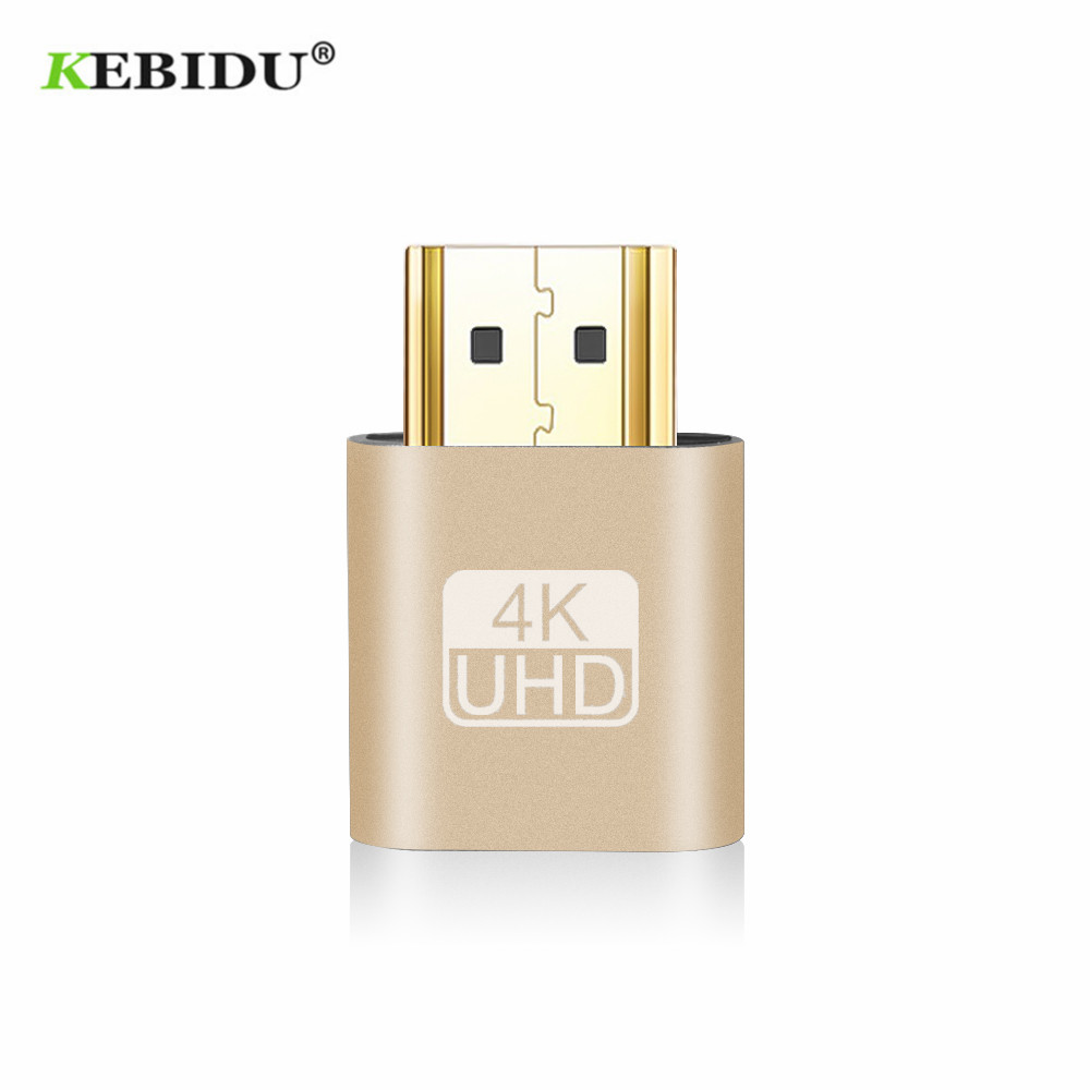 Image 3 - Kebidu 2018 HOT SALE VGA Virtual Plug HDMI Dummy Adapter Virtual Display Emulator Adapter DDC Edid Support 1920x1080P For Video-in Computer Cables & Connectors from Computer & Office