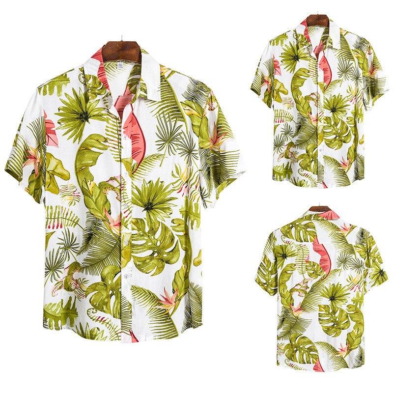 2020 Man Spelling Color All-match Short Sleeve Shirt Flax Nation Wind Short Sleeve Shirt Male Cs153
