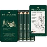 Faber Castell 9000 Художественный набор жестяных 12 штук карандашей Профессиональный набросок рисунок карандаши 8B 7B 6B 5B 4B 3B 2B B HB F H 2H