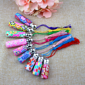 Image 3 - 4pcs/Pack 6ml Glass Perfume Roll on Bottle with Glass Ball Polymer Clay Roller Essential Oil Bottle Many Patterns