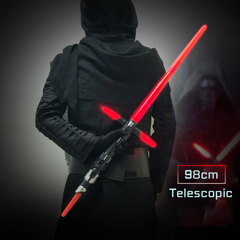 2020 New Luminous Toys Lightsaber Plastic Sword Cosplay Luminous Outdoor Wars Stick Saber Weapon Toys For Children And Kids