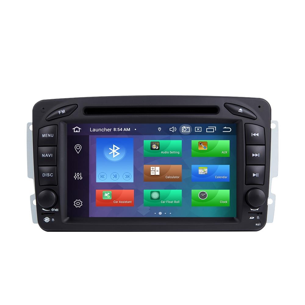 Ips DSP 4 Гб ram 2din Android 9 автомобильный dvd плеер для Mercedes Benz CLK W209 W203 W463 W208 Multimeida gps Радио стерео аудио камера - 2