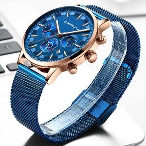 Image 4 - นาฬิกาผู้ชายRelogio Masculino CRRJUสุดหรูยี่ห้อธุรกิจเหล็กนาฬิกาควอตซ์Casualนาฬิกาข้อมือชายกันน้ำChronograph