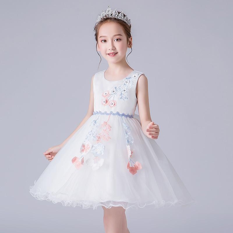 Girls' Princess Skirt Medium-small Childrenswear Formal Dress 3-8-Year-Old Clothing Girls Puffy Mesh Skirt Performance Costume S