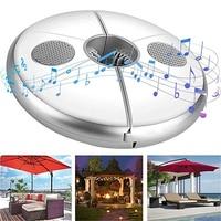 Sombrilla de luz LED para jardín musical, sombrilla recargable con USB, altavoz con luz que cambia de Color para barbacoa, Patio, poste de sombrilla, lámpara para acampar al aire libre