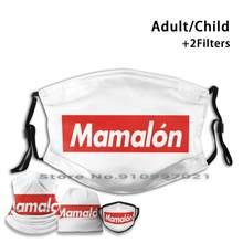 Filtros não descartáveis da máscara protetora pm2.5 da boca de mamalón para a criança adulto rojo frase acento escrito marca