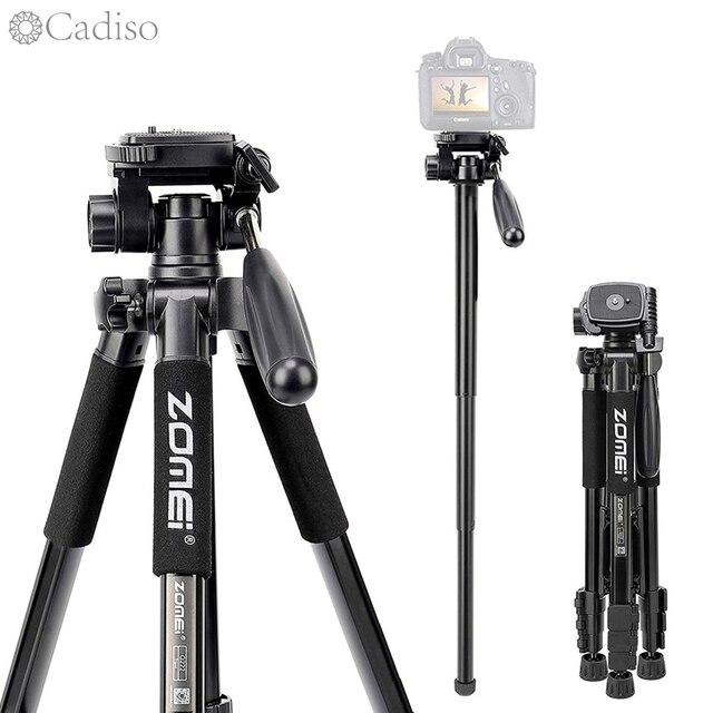 Cadiso Q222 Professional Video Foto Kamera Stativ Flexible Fotografischen Tourismus Reise Stand mit Einbeinstativ für DSLR Kamera Telefon