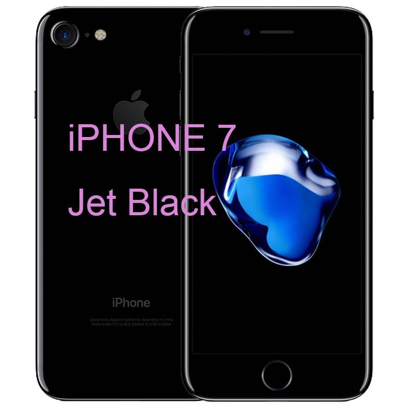 Разблокированный Apple iPhone 7/iPhone 7 Plus четырехъядерный мобильный телефон 12,0 МП камера 32G/128G/256G Rom IOS Телефон с отпечатком пальца - Цвет: iphone 7 Jet Black