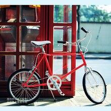 Vintage 20 pulgadas bicicleta piñón fijo bicicleta marcha única Retro Leisur bicicleta Rojo Negro bicicleta marco mini bicicleta