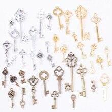 39 шт. винтажные подвески смешанные Ключи Подвеска Античная бронза подходят браслеты ожерелье DIY Металлические Ювелирные изделия изготовление 10011