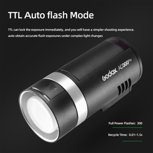 Image 3 - In Stock Godox AD300Pro Outdoor Flash Light 300Ws TTL 2.4G 1/8000 HSS with Battery for Canon Nikon Sony Fuji Olympus Pentax
